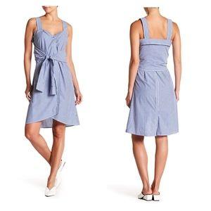 Derek Lam 10 Crosby sleeveless stipe tie dress NWT